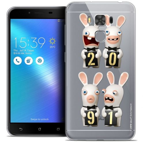 """Coque Gel Asus Zenfone 3 Max Plus ZC553KL (5.5"""") Extra Fine Lapins Crétins™ - New Year"""