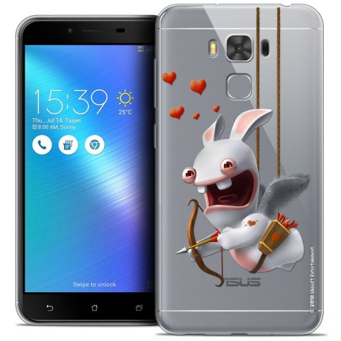 """Coque Gel Asus Zenfone 3 Max Plus ZC553KL (5.5"""") Extra Fine Lapins Crétins™ - Flying Cupidon"""