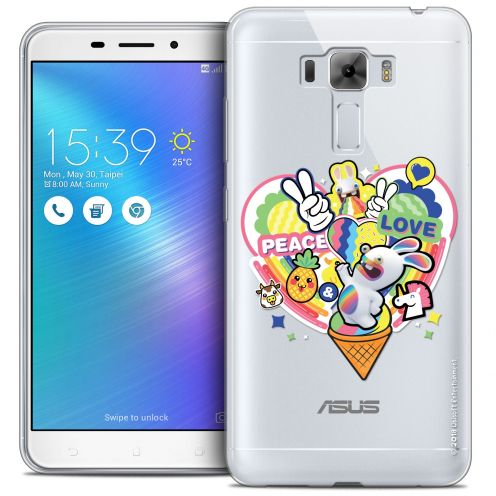 """Coque Gel Asus Zenfone 3 Laser ZC551KL (5.5"""") Extra Fine Lapins Crétins™ - Peace And Love"""