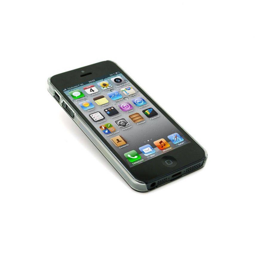 Vue complémentaire de Coque Luxe Strass & Paillettes Rose iPhone 5