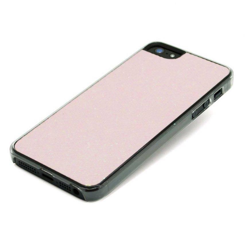 Photo réelle de Coque Luxe Strass & Paillettes Rose iPhone 5