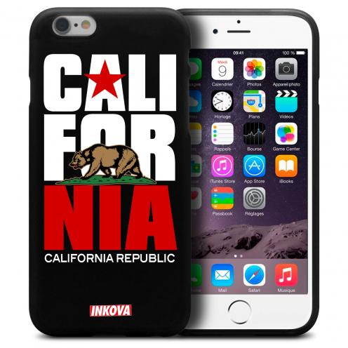 Vue détaillée de Coque iPhone 6 / 6s Inkova Extra Fine Noir California Republic