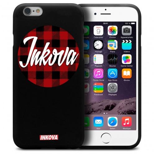 Vue détaillée de Coque iPhone 6 / 6s Inkova Extra Fine Noir Circle Tweed