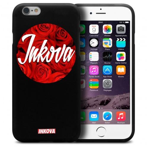 Vue détaillée de Coque iPhone 6 / 6s Inkova Extra Fine Noir Circle Roses