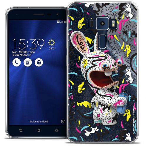"Coque Gel Asus Zenfone 3 ZE552KL (5.5"") Extra Fine Lapins Crétins™ - Tag"