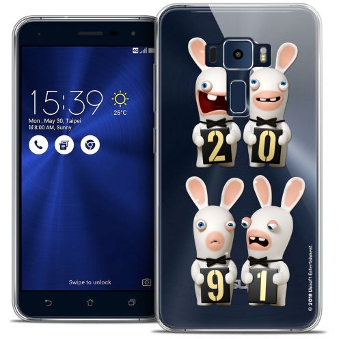 "Coque Gel Asus Zenfone 3 ZE552KL (5.5"") Extra Fine Lapins Crétins™ - New Year"