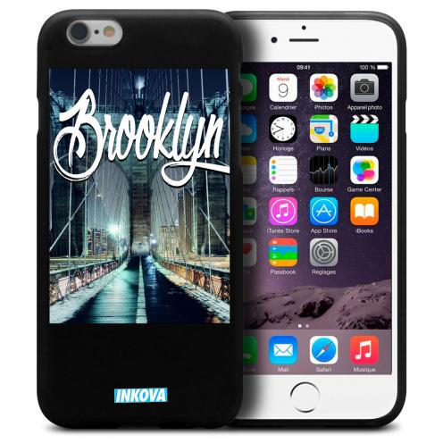 Vue détaillée de Coque iPhone 6 / 6s Inkova Extra Fine Noir City Brooklyn