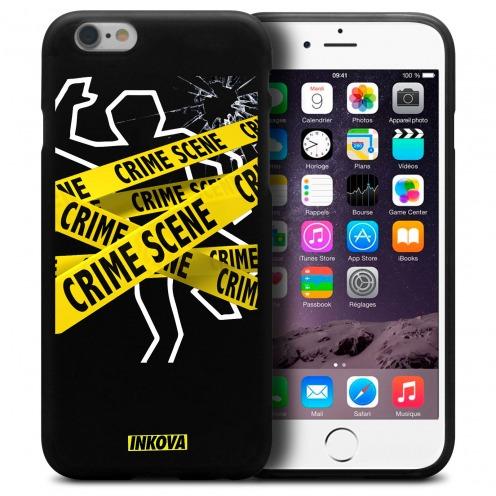 Vue détaillée de Coque iPhone 6 / 6s Inkova Extra Fine Noir Crime Scene
