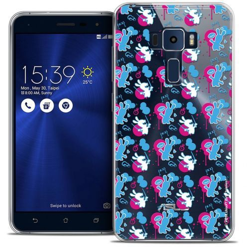 """Coque Gel Asus Zenfone 3 ZE520KL (5.2"""") Extra Fine Lapins Crétins™ - Rugby Pattern"""