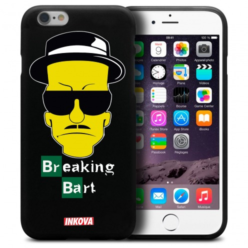 Vue détaillée de Coque iPhone 6 Plus / iPhone 6s Plus Inkova Extra Fine Noir Breaking Bart