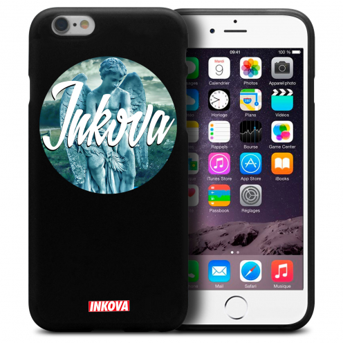 Vue détaillée de Coque iPhone 6 Plus / iPhone 6s Plus Inkova Extra Fine Noir Circle Angel