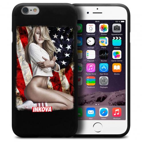 Vue détaillée de Coque iPhone 6 Plus / iPhone 6s Plus Inkova Extra Fine Noir My Girl Socks US