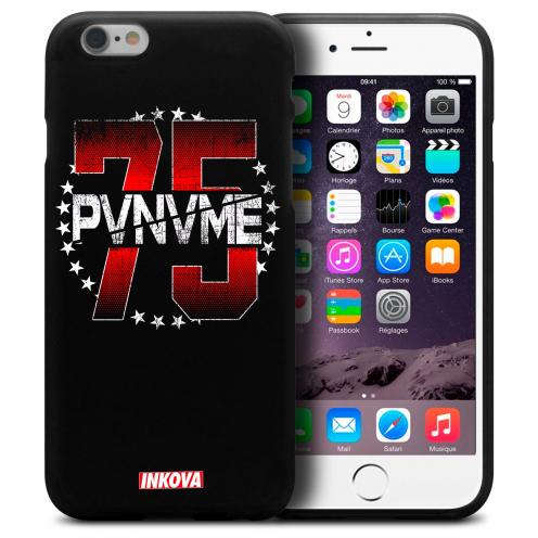 Coque iPhone 6 Plus / iPhone 6s Plus Inkova Extra Fine Noir Dept. Paname 75