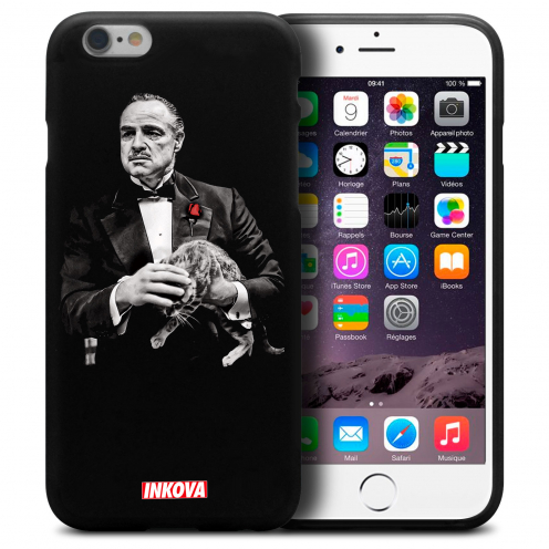Vue détaillée de Coque iPhone 6 Plus / iPhone 6s Plus Inkova Extra Fine Noir Parrain