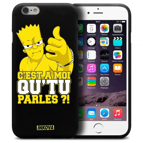 Vue détaillée de Coque iPhone 6 Plus / iPhone 6s Plus Inkova Extra Fine Noir Bart Made of Vinz