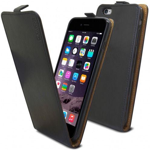 Visuel supplémentaire de Etui Italia Flip Apple iPhone 6 Plus / 6s Plus Cuir Véritable Bovin Noir