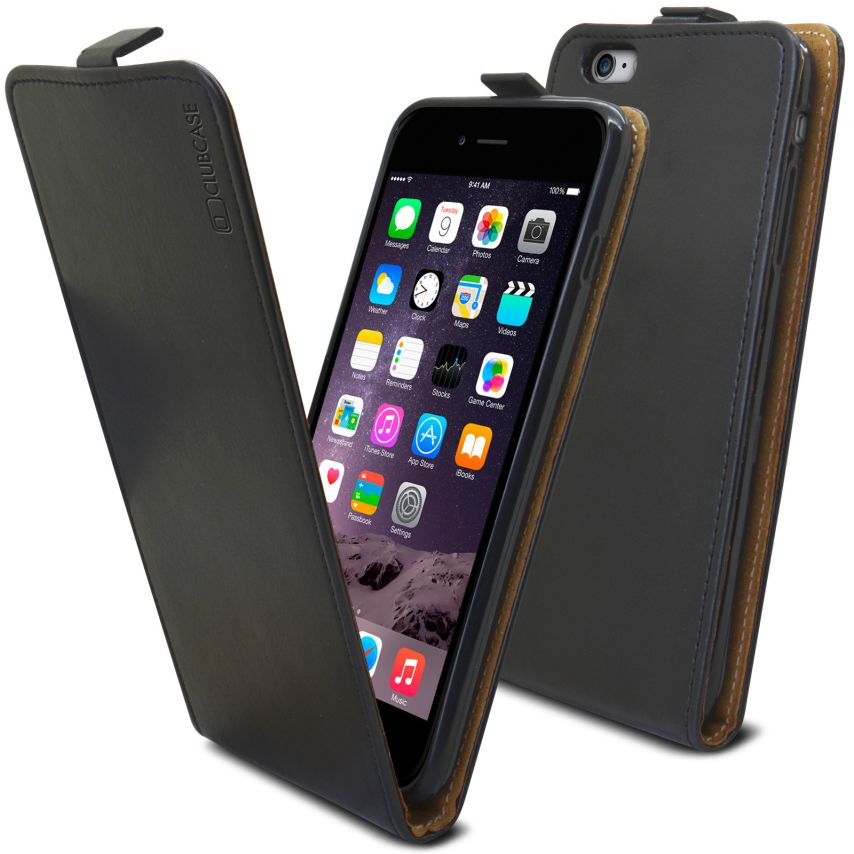 coque rabat vertical souple apple iphone 6 6s plus cuir v ritable noir. Black Bedroom Furniture Sets. Home Design Ideas