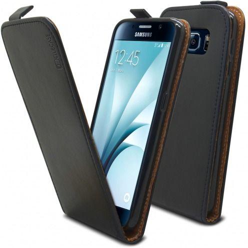 Etui Italia Flip Samsung Galaxy S6 Cuir Véritable Bovin Noir