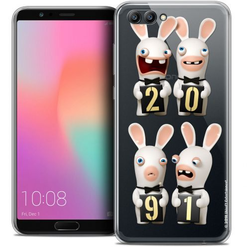 "Coque Gel Honor View 10 / V10 (6"") Extra Fine Lapins Crétins™ - New Year"