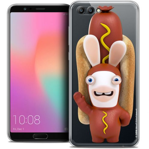 "Coque Gel Honor View 10 / V10 (6"") Extra Fine Lapins Crétins™ - Hot Dog Crétin"