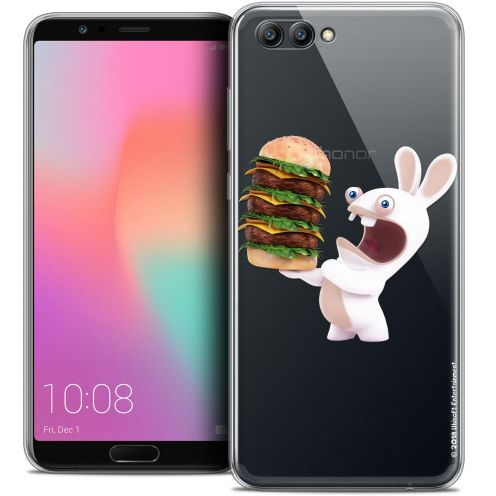 "Coque Gel Honor View 10 / V10 (6"") Extra Fine Lapins Crétins™ - Burger Crétin"