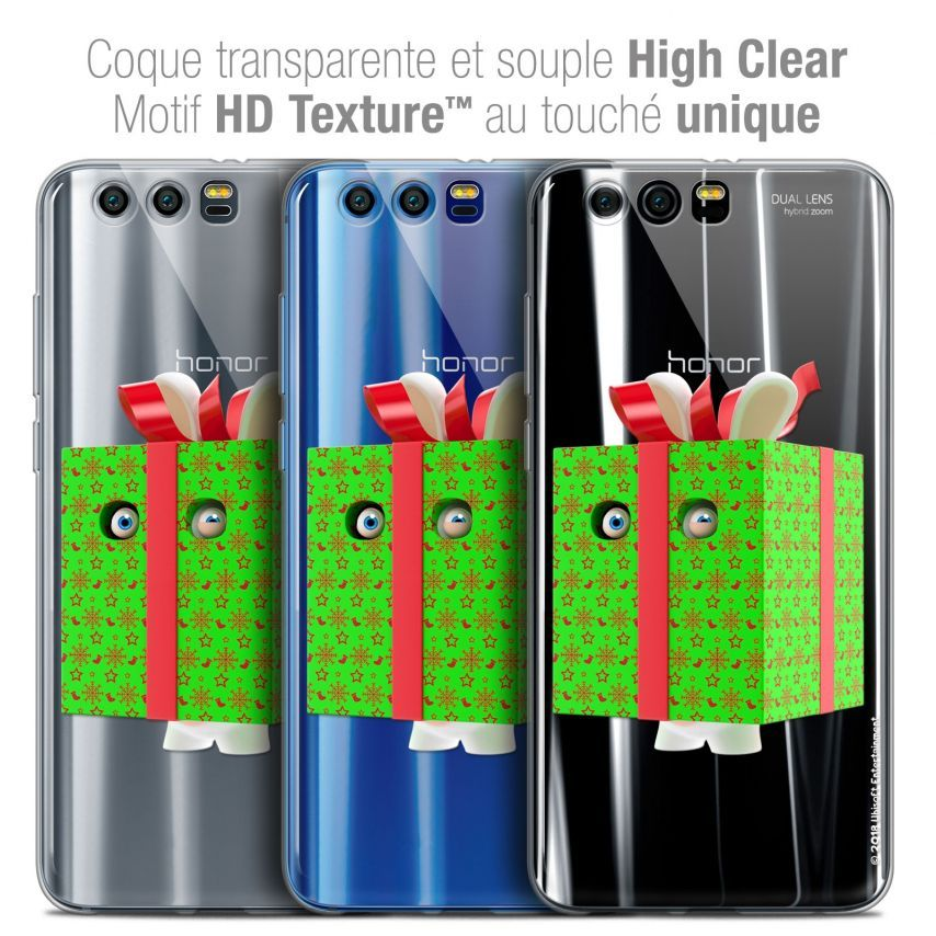 "Coque Gel Huawei Honor 9 (5.15"") Extra Fine Lapins Crétins™ - Lapin Surprise Vert"