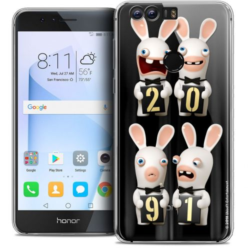 "Coque Gel Huawei Honor 8 (5.2"") Extra Fine Lapins Crétins™ - New Year"