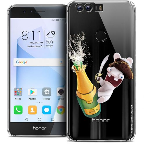 """Coque Gel Huawei Honor 8 (5.2"""") Extra Fine Lapins Crétins™ - Champagne !"""