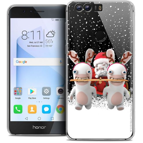 """Coque Gel Huawei Honor 8 (5.2"""") Extra Fine Lapins Crétins™ - Lapin Traineau"""
