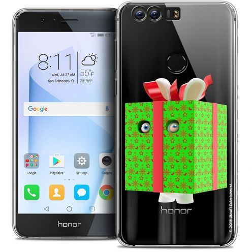 "Coque Gel Huawei Honor 8 (5.2"") Extra Fine Lapins Crétins™ - Lapin Surprise Vert"
