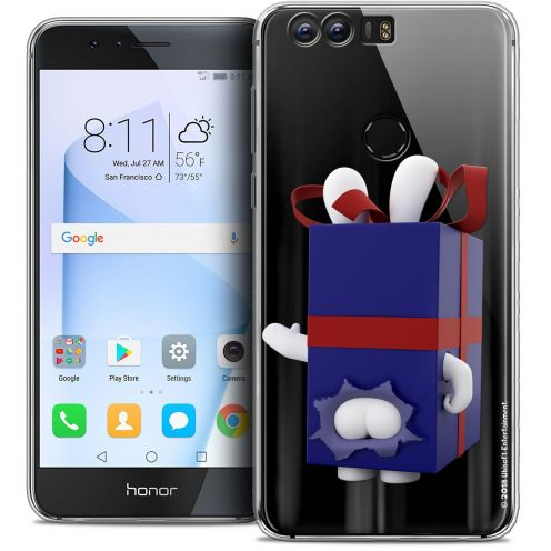 "Coque Gel Huawei Honor 8 (5.2"") Extra Fine Lapins Crétins™ - Lapin Surprise Bleu"