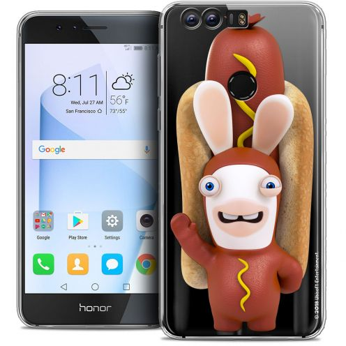 "Coque Gel Huawei Honor 8 (5.2"") Extra Fine Lapins Crétins™ - Hot Dog Crétin"