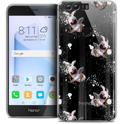 """Coque Gel Huawei Honor 8 (5.2"""") Extra Fine Lapins Crétins™ - Cupidon Pattern"""