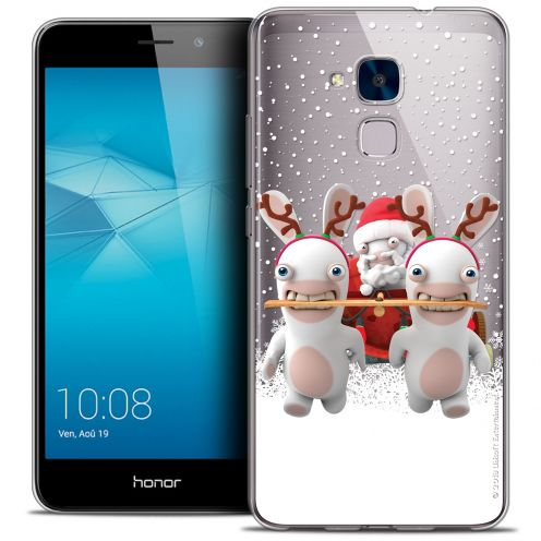 Coque Gel Huawei Honor 5C Extra Fine Lapins Crétins™ - Lapin Traineau