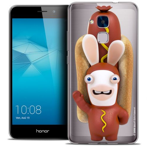 Coque Gel Huawei Honor 5C Extra Fine Lapins Crétins™ - Hot Dog Crétin