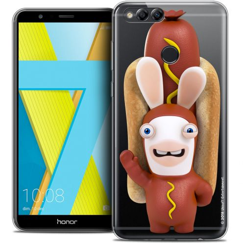 "Coque Gel Honor 7X (5.9"") Extra Fine Lapins Crétins™ - Hot Dog Crétin"