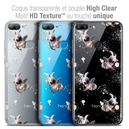 """Coque Gel Huawei Honor 9 LITE (5.7"""") Extra Fine Lapins Crétins™ - Cupidon Pattern"""