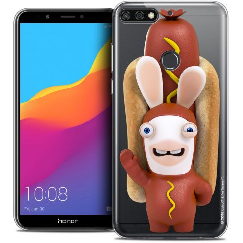 """Coque Gel Honor 7C (5.99"""") Extra Fine Lapins Crétins™ - Hot Dog Crétin"""