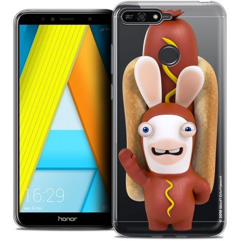 "Coque Gel Honor 7A (5.7"") Extra Fine Lapins Crétins™ - Hot Dog Crétin"