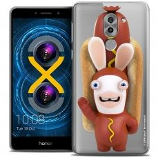 Coque Gel Huawei Honor 6X Extra Fine Lapins Crétins™ - Hot Dog Crétin