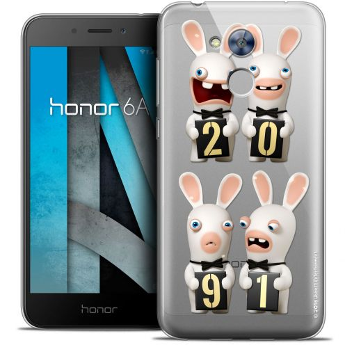 "Coque Gel Huawei Honor 6A (5"") Extra Fine Lapins Crétins™ - New Year"