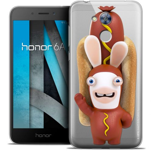 "Coque Gel Huawei Honor 6A (5"") Extra Fine Lapins Crétins™ - Hot Dog Crétin"