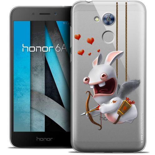 "Coque Gel Huawei Honor 6A (5"") Extra Fine Lapins Crétins™ - Flying Cupidon"