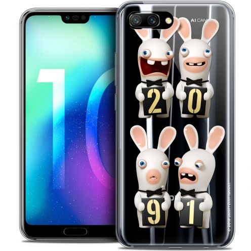 "Coque Gel Huawei Honor 10 (5.8"") Extra Fine Lapins Crétins™ - New Year"