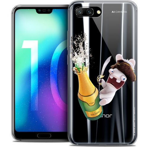 "Coque Gel Huawei Honor 10 (5.8"") Extra Fine Lapins Crétins™ - Champagne !"