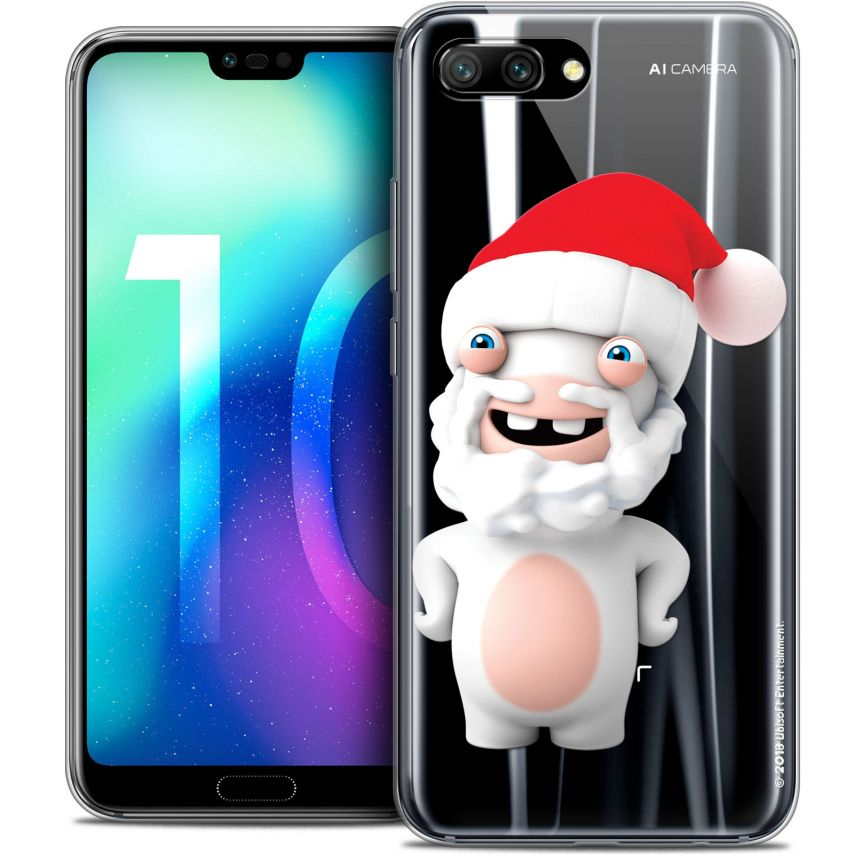 """Coque Gel Huawei Honor 10 (5.8"""") Extra Fine Lapins Crétins™ - Lapin Noël"""