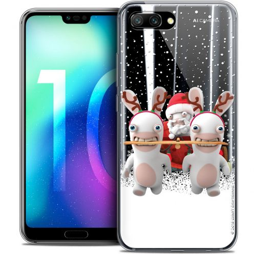 "Coque Gel Huawei Honor 10 (5.8"") Extra Fine Lapins Crétins™ - Lapin Traineau"