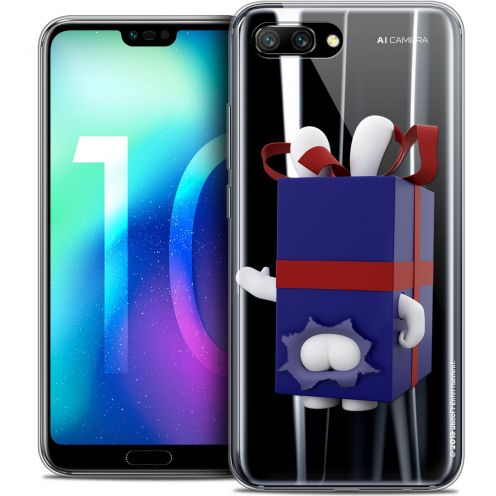 "Coque Gel Huawei Honor 10 (5.8"") Extra Fine Lapins Crétins™ - Lapin Surprise Bleu"