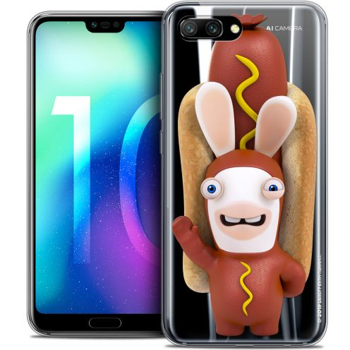 "Coque Gel Huawei Honor 10 (5.8"") Extra Fine Lapins Crétins™ - Hot Dog Crétin"