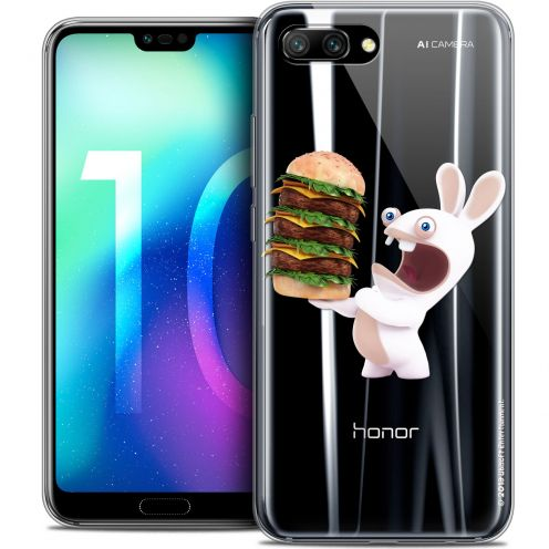 "Coque Gel Huawei Honor 10 (5.8"") Extra Fine Lapins Crétins™ - Burger Crétin"